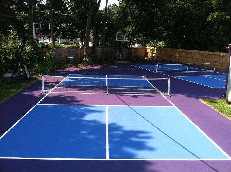 backyard pickleball courts pickleball court resurfacing