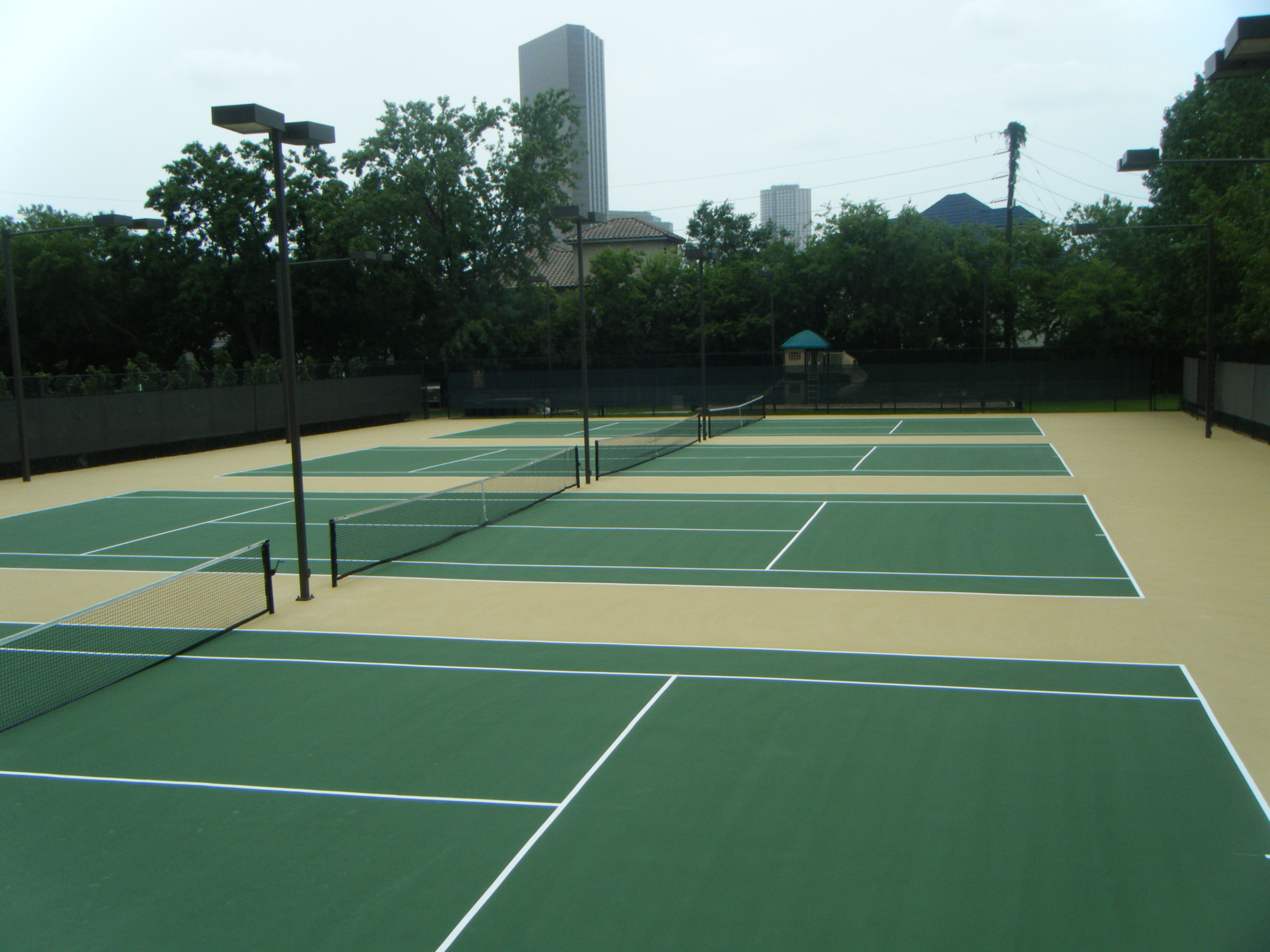Leed And Tennis Court Surfaces In Houston Texas