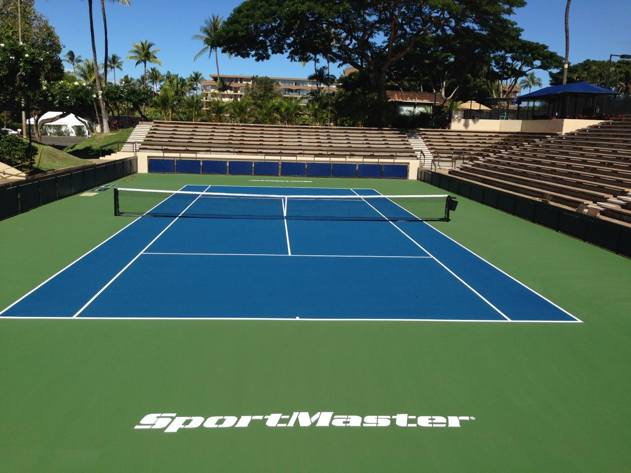 Tennis court resurfacing repair hawaii for How much does a sport court cost