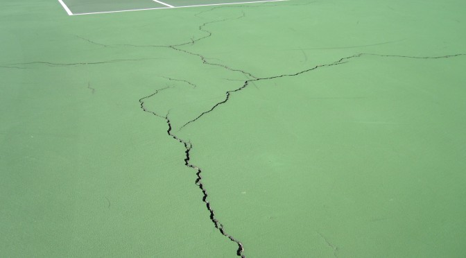 Tennis Court Crack Filling and Repair in Richmond Virginia