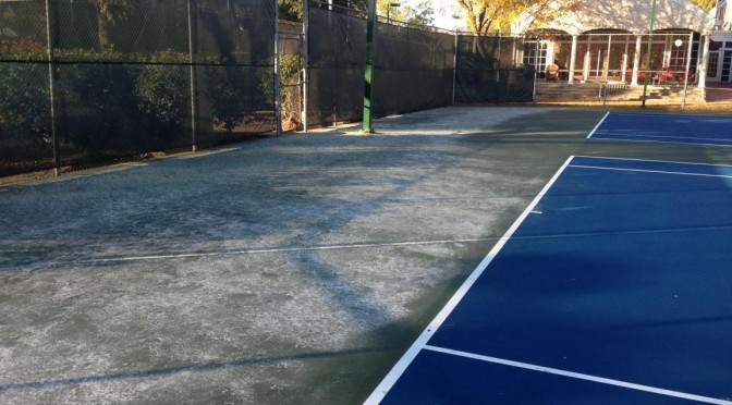 Tennis Court Surface | Improper Curing