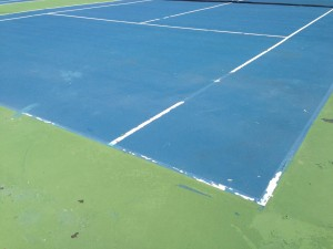 Tennis Court Curing Failure