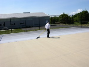 Cushioned Tennis Court Surfaces in Delaware
