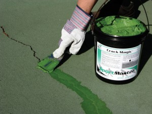 Flexible Tennis Court Crack Filler | Crack Magic