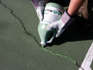 Pourable Tennis Court Crack Filler | SportMaster CourtFlex