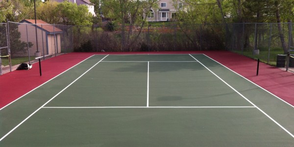 Tennis Court After Repair and Resurfacing with SportMaster