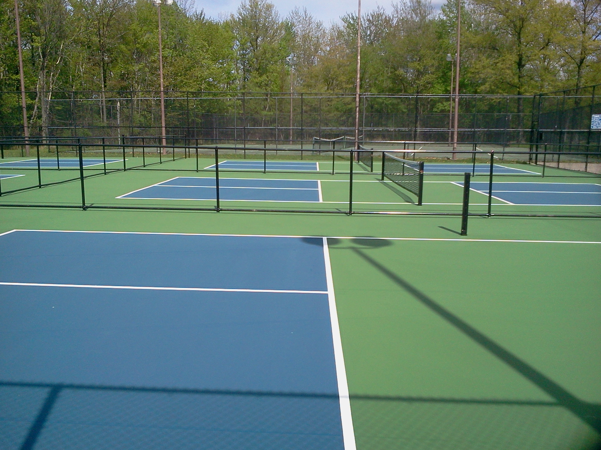Pickleball court surfaces backyard court builders for How to build a sport court