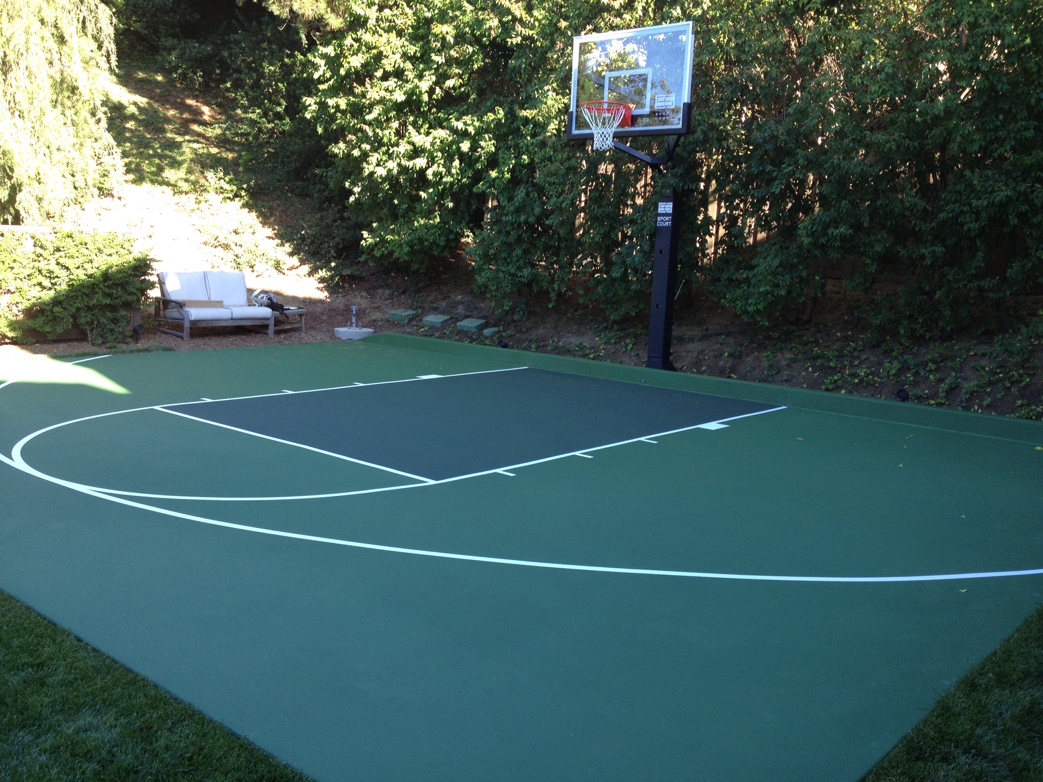 Basketball court surfaces construction and painting for How to build a sport court