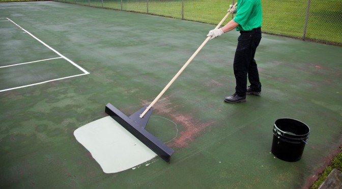 Tennis Court Puddles