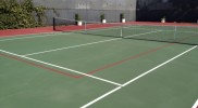 Blended Pickleball Court Lines On A Tennis Court
