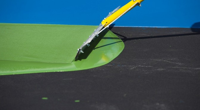 How Do You Paint A Tennis Court?