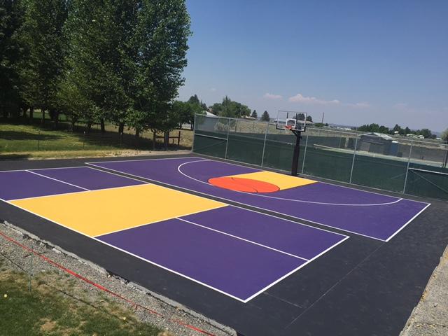 Backyard sports court construction surfacing washington for Backyard sports courts
