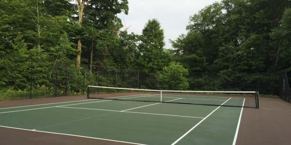 Newly Painted Tennis Court