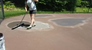 Shimming Tennis Court Patches
