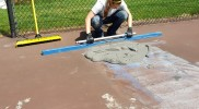 Tennis Court Puddle Repair