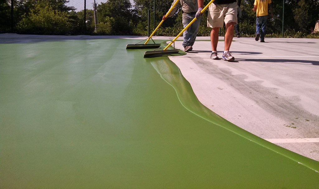 Tennis Court Painting Michigan Sportmaster Sport Surfaces