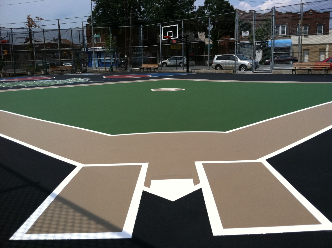 Paint basketball court basketball scores for Sport court paint