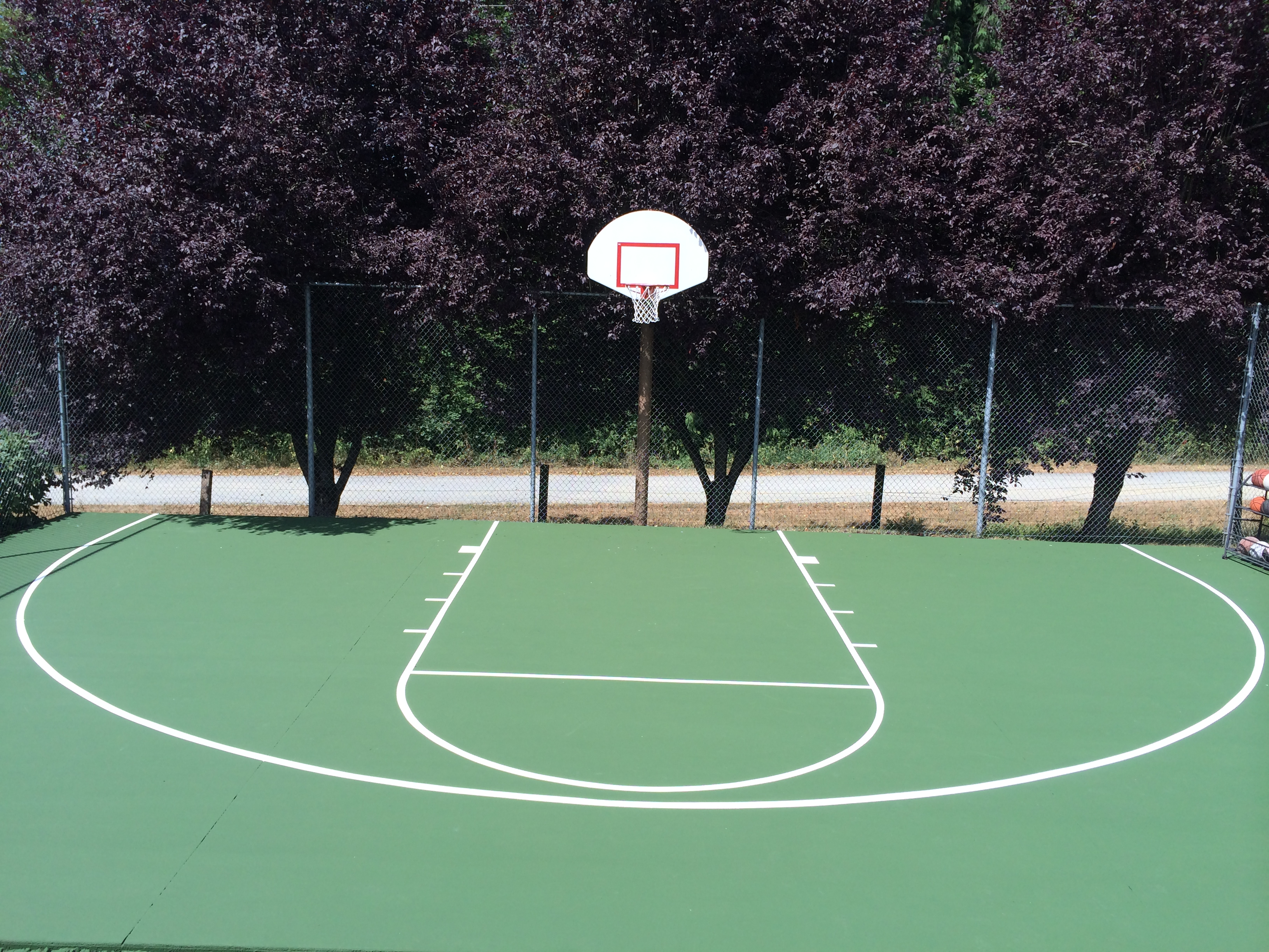 Backyard Sports Court Construction Surfacing Washington