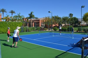 Pickleball Courts with Blended Lines