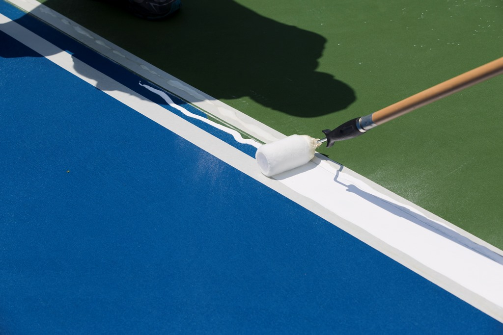 Painting A Tennis Court Cincy and Dayton