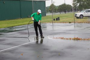 Pressure Washing Tennis Court