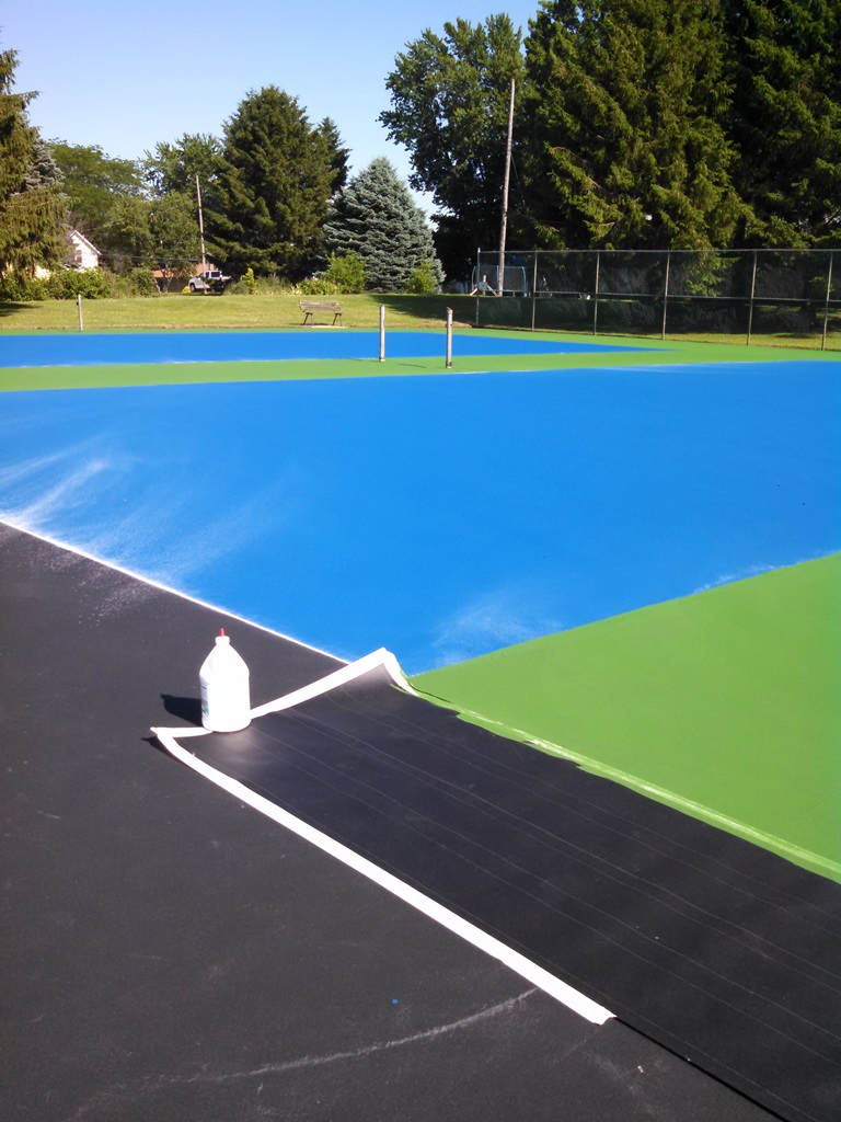 Painting Tennis Courts Boise Idaho