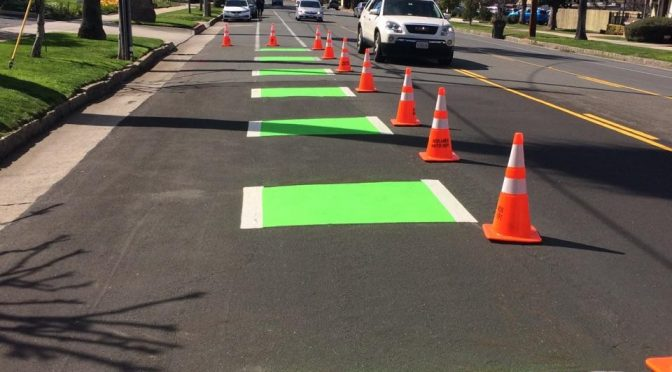 Green Bicycle Lane Coating