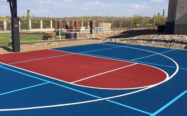 How to get blended line paint for a multipurpose sports court for Sport court paint