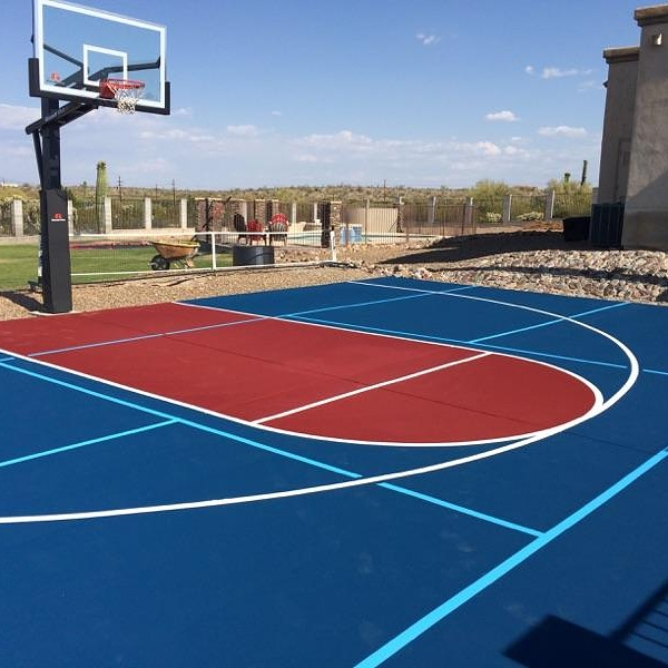 How To Get Blended Line Paint For A, Outdoor Basketball Court Lines Paint