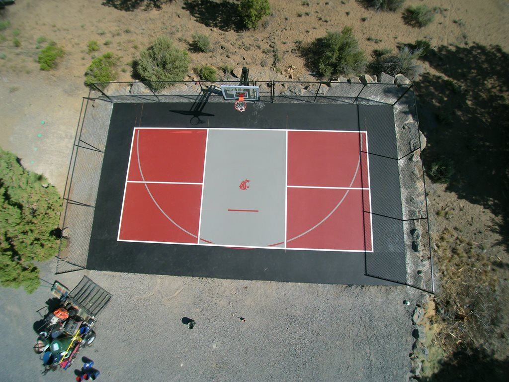 Pickleball & Basketball Court Combo