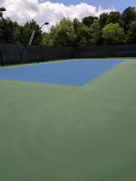 Squeegee Marks On Tennis Court Tennis Court Resurfacing
