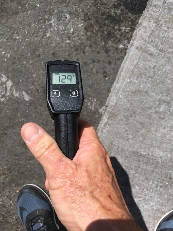 Measuring Pavement Temperature