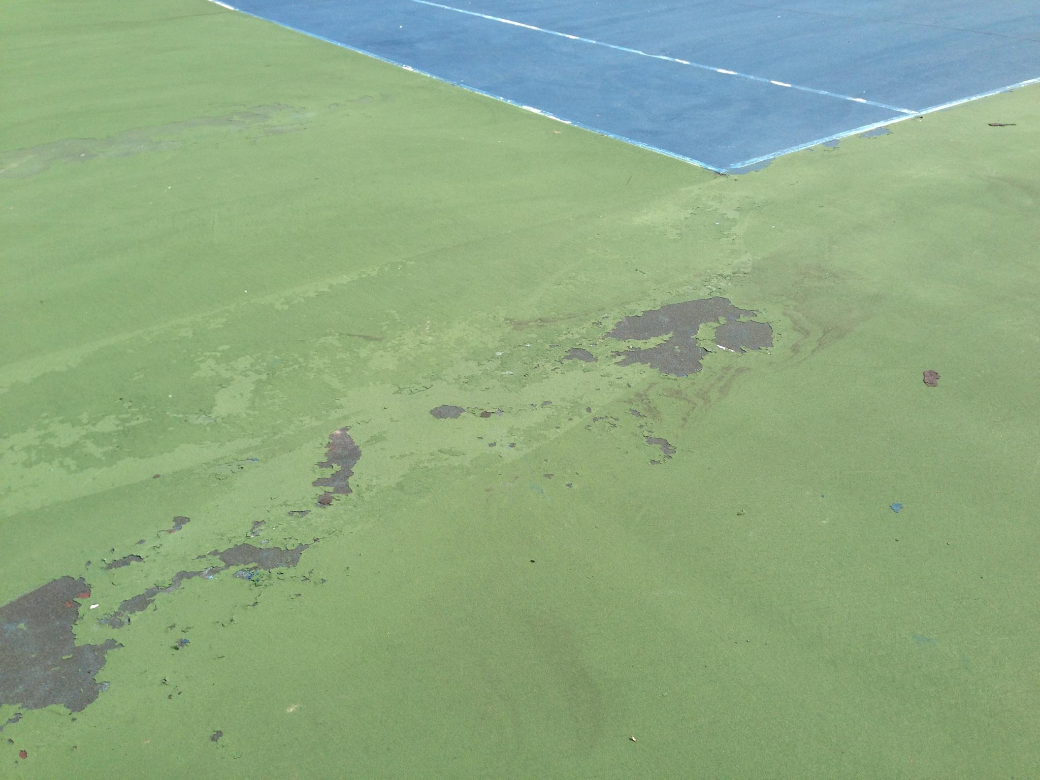 Tennis Court Coating Failure
