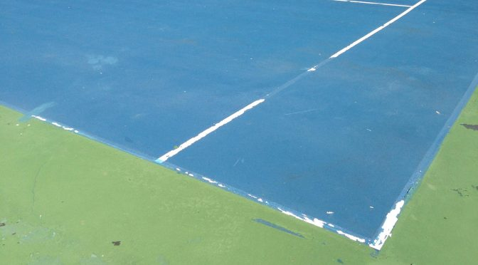 When is it too cold to apply tennis court surfaces?