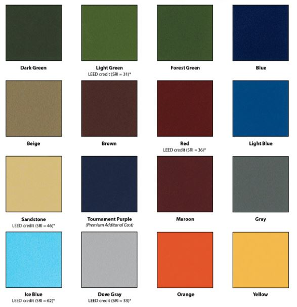 Netball Court Colours