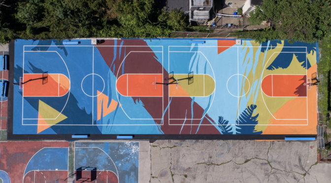 Basketball Court Surface Mural