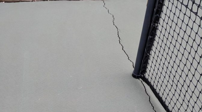 Why Do Tennis Courts Crack Under The Tennis Net?