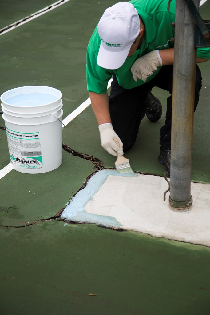 Net Post Footer Cracks