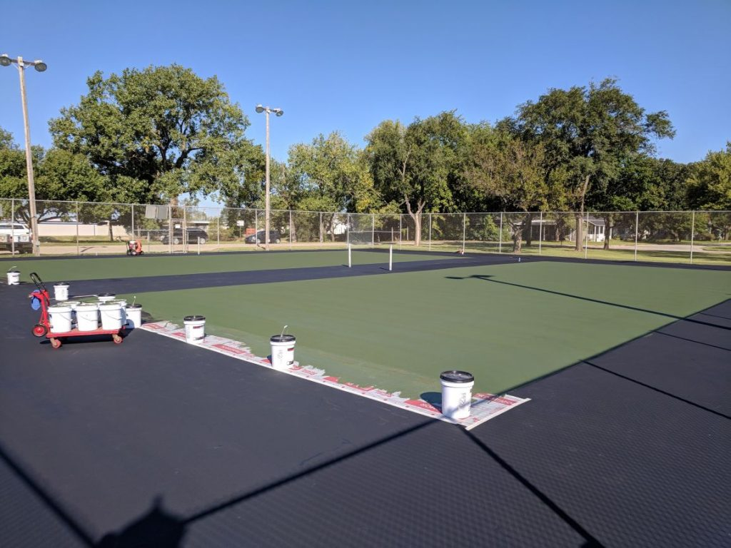 Color Coating Tennis Courts Kansas