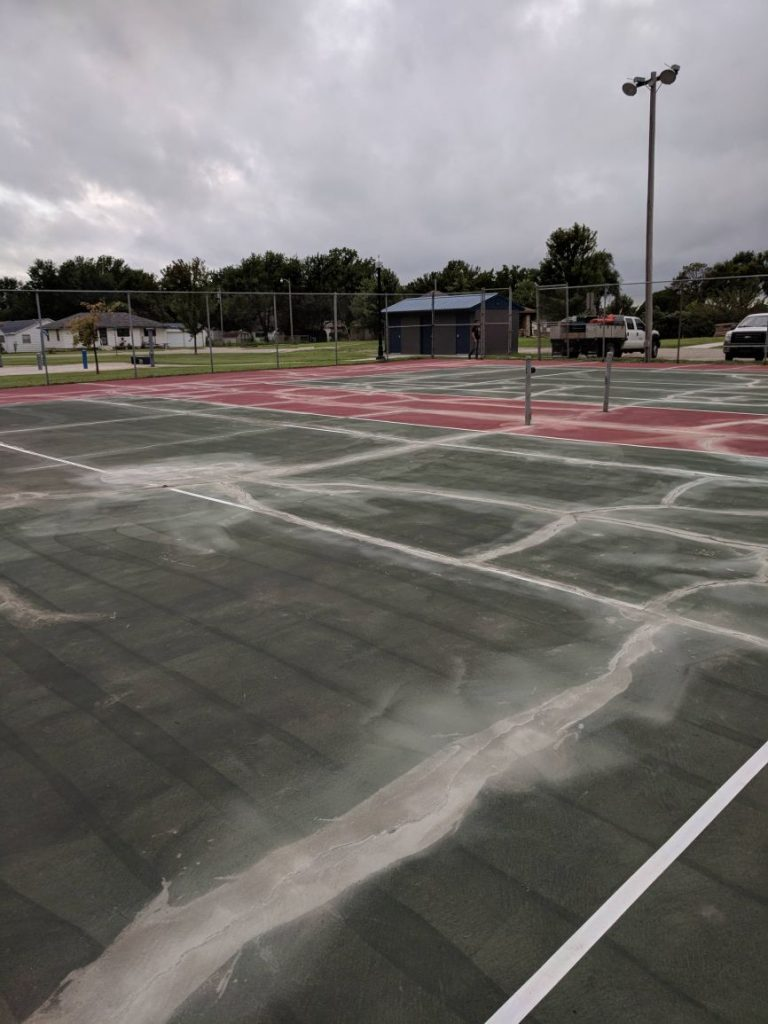 Tennis Court Crack Filling Kansas