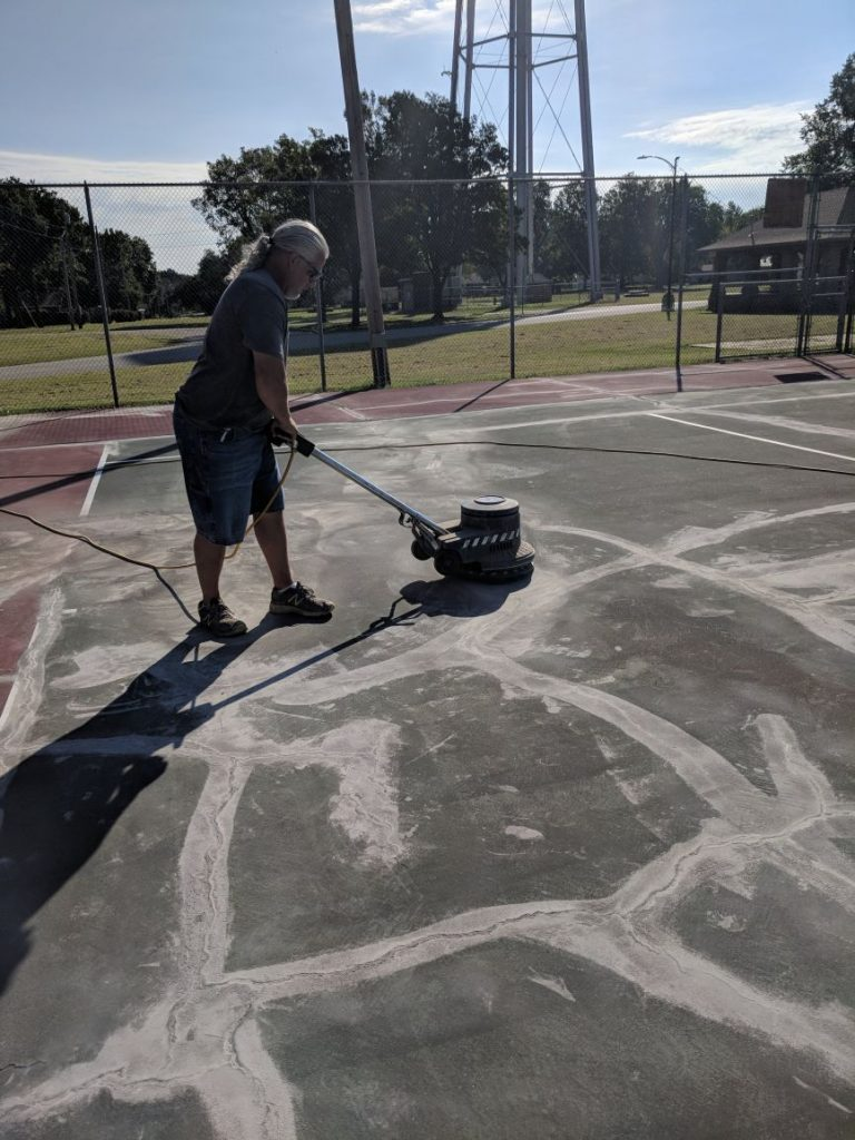 Tennis Court Sanding Kansas